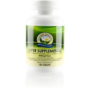 Super Supplemental w/o Iron 120 Tablets