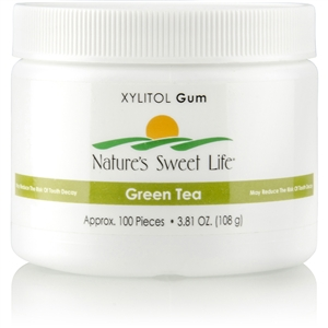 Sweet Life Xylitol Gum (Green Tea) 100 Pieces