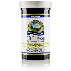 Hi Lipase Improved 100 Capsules