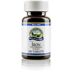 Iron, Chelated 180 Tablets